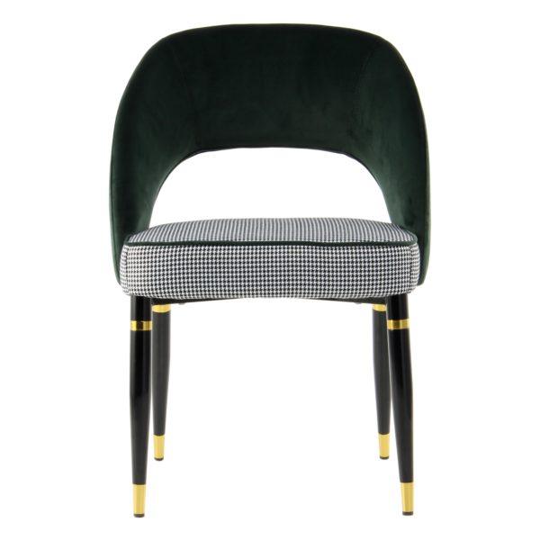 groene design eetkamerstoelen goud