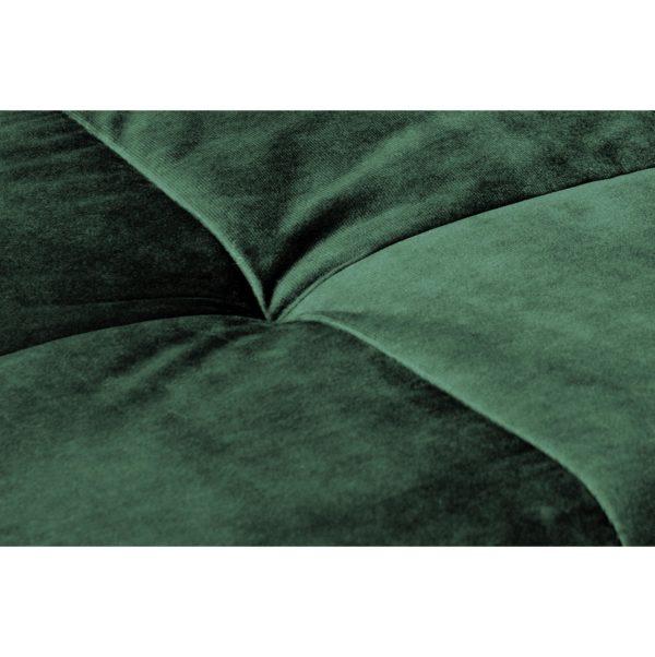Groene stoffen eetkamerstoelen
