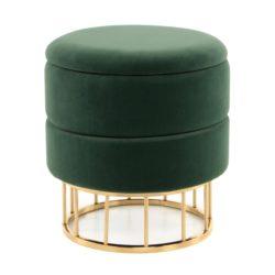 Groene ronde Poef Zara