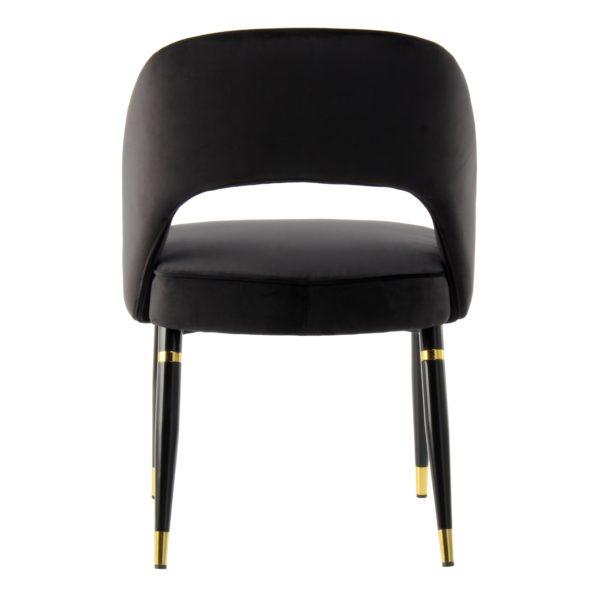 zwarte design eetkamerstoelen goud