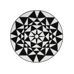 rond-vloerkleed-zwart-wit