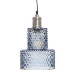 Blauwe glazen Hanglamp Mano