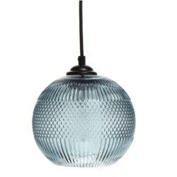 Blauwe glazen hanglamp Prox