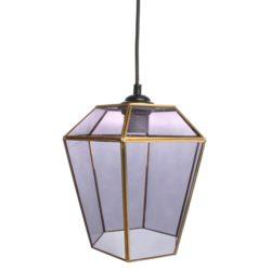 Glazen lantaarn Hanglamp Grijs
