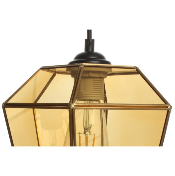 Glazen lantaarn Hanglamp Oranje