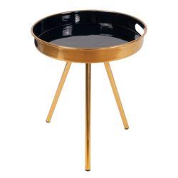 Gouden bijzettafel Marq Donkerblauw