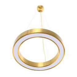 Gouden ronde hanglamp Saturnus