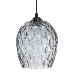 Grijze glazen Hanglamp Coro