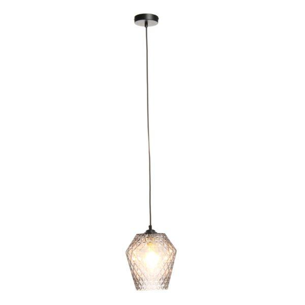 Grijze hanglamp van glas Lima