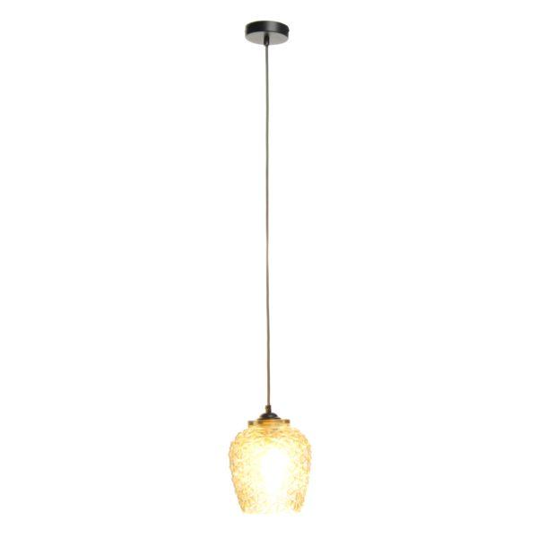 Gele glazen hanglamp Villa