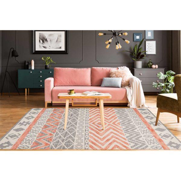 Oranje Scandinavisch tapijt Nova