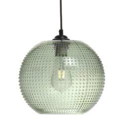 Ronde glazen Hanglamp Soba Groen