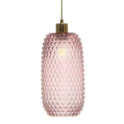 Roze glazen hanglamp Jori Studs