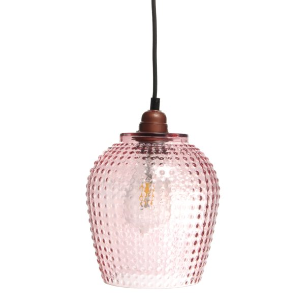 Roze glazen hanglamp River