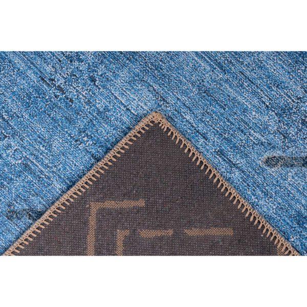 Blauw retro vloerkleed Rafael