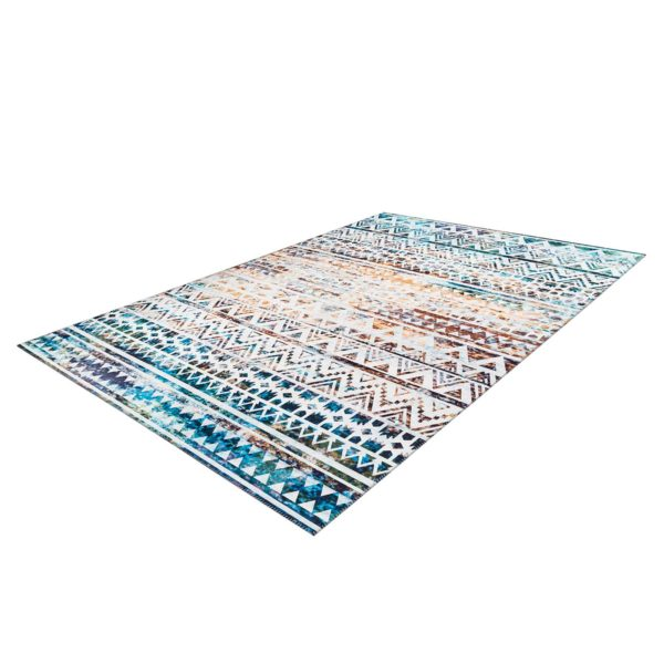blauw bohemian tapijt