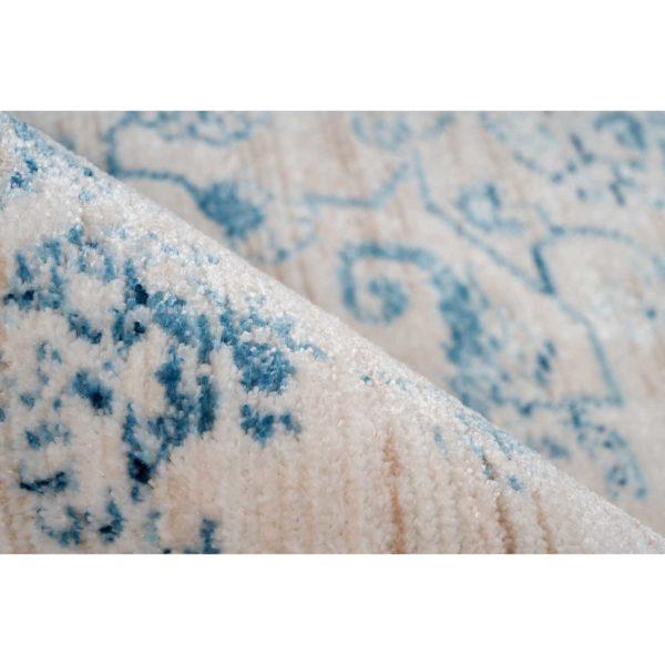 Lichtblauw vintage vloerkleed