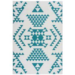 turquoise-retro-vloerkleed