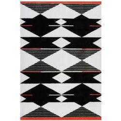 zwart retro tapijt