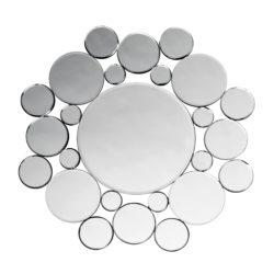 Design spiegel Drip zilver