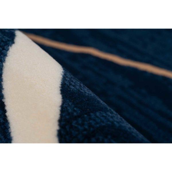 Donkerblauw design karpet