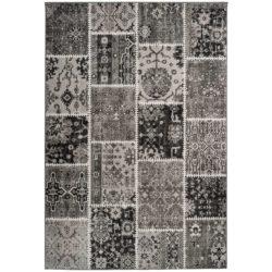 Donkergrijs-patchwork-vloerkleed
