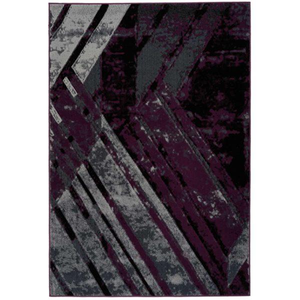 Donkerpaars-vloerkleed-retro