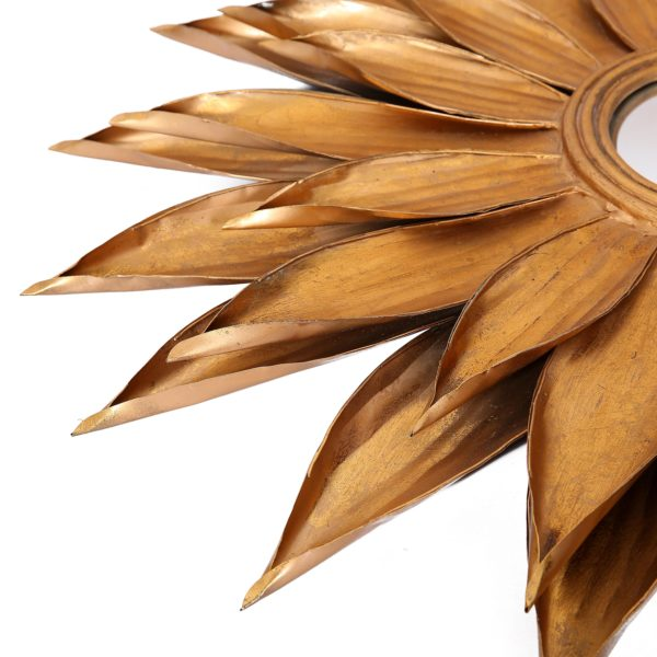 Gouden wandspiegel Leaf