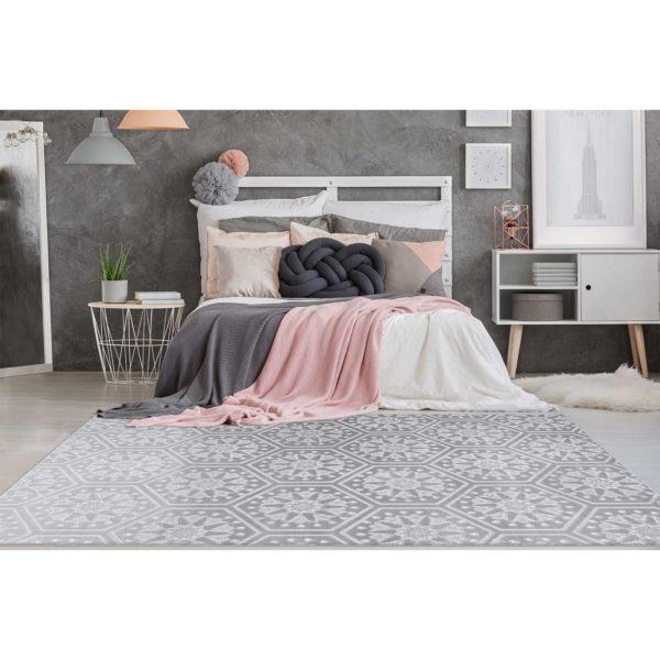 Grijs slaapkamer tapijt