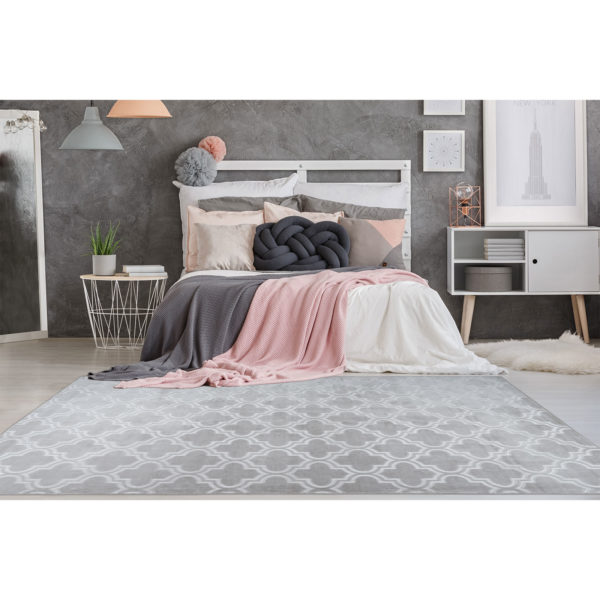 Grijs slaapkamer vloerkleed