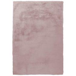 Hoogpolig roze vloerkleed