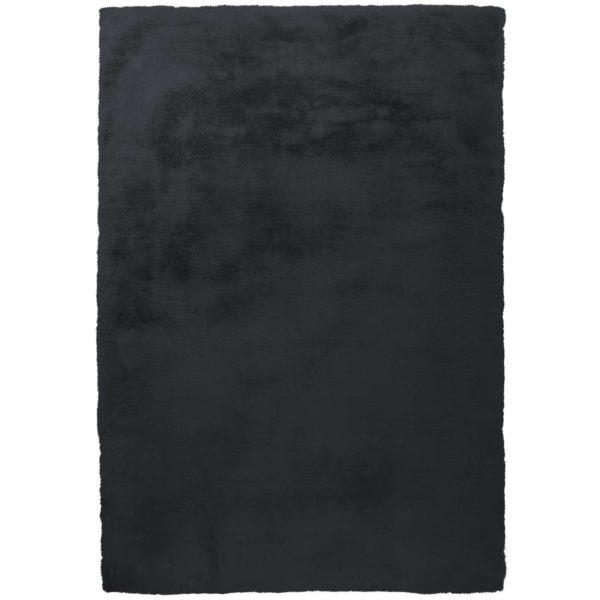 Hoogpolig-zwart-vloerkleed