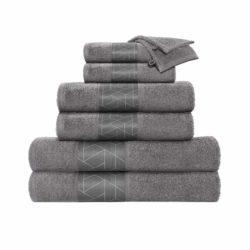 Luxe grijze handdoekenset Valencia (set van 8)