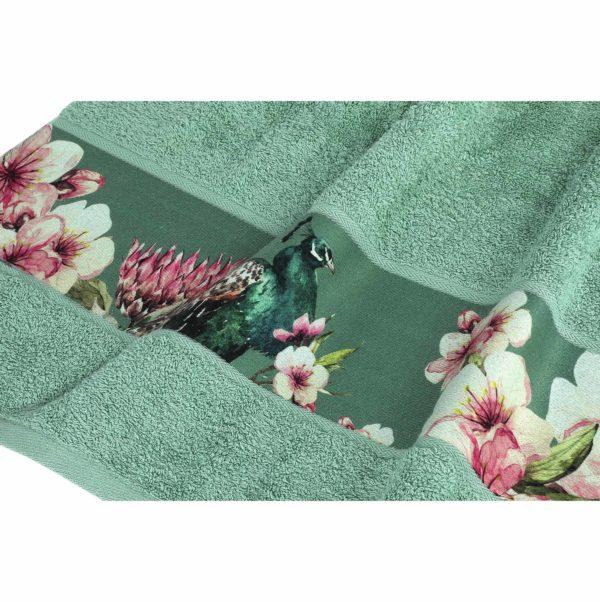 Luxe groene handdoekenset Valencia (set van 8)