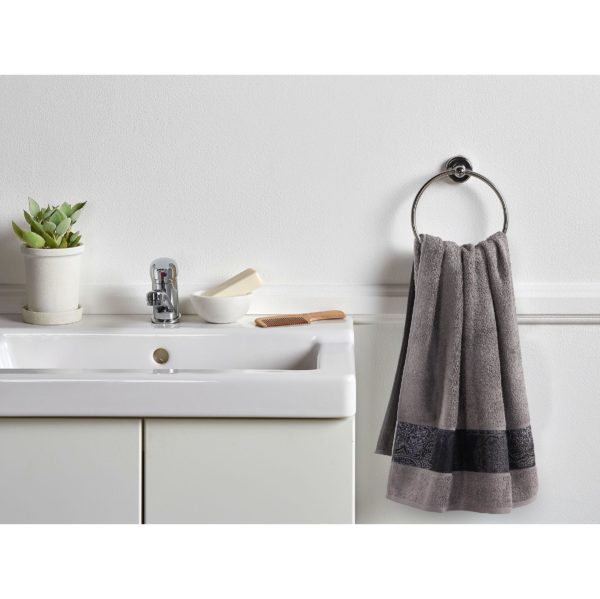 Luxe taupe handdoekenset Valencia (set van 8)