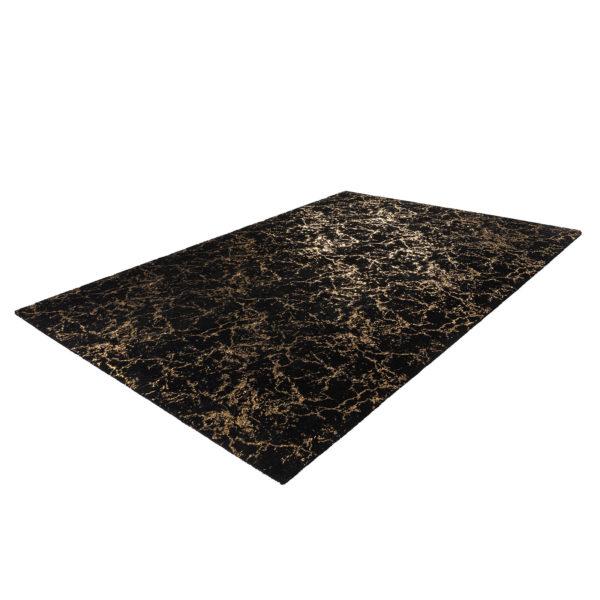 Luxe zwart vloerkleed goud