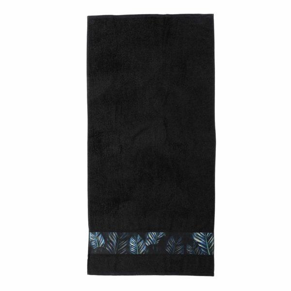Luxe zwarte handdoekenset Valencia (set van 8)