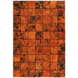 Oranje-patchwork-vloerkleed