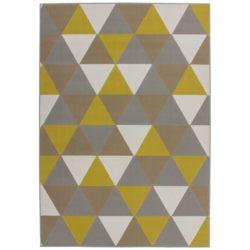 Vloerkleed-met-driehoeken-Goud