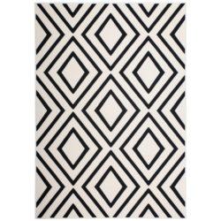 wit met zwart vloerkleed