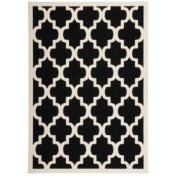 Zwart design vloerkleed