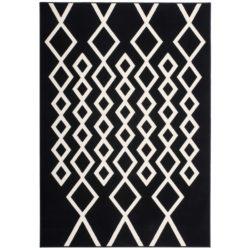 Zwart met wit vloerkleed