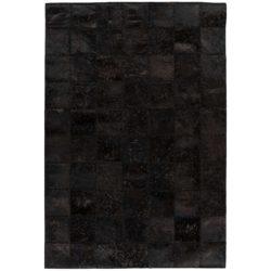 Zwart patchwork vloerkleed
