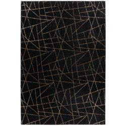 zwart goud vloerkleed