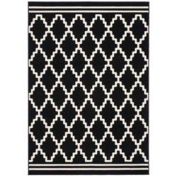 Zwart-wit-vloerkleed