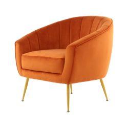 Oranje fauteuil Dora