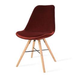 rode-eetkamerstoel-houten-onderstel