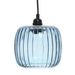 Blauwe glazen hanglamp Carla