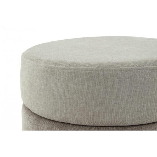Luxe ronde poef Mathilde met grijs