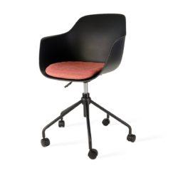 Zwarte bureaustoel met armleuning Florence rood
